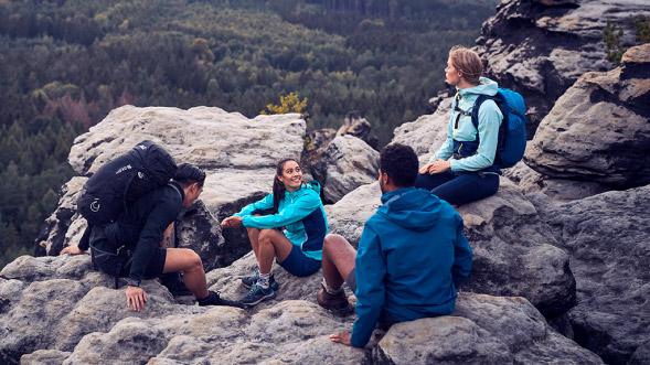 Eine Gruppe Wanderer